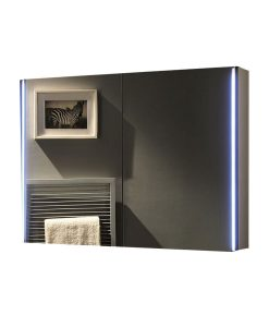 Ruby Remer LED 2 Door Mirrored Bathroom Cabinet 80cm x 60cm