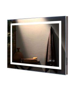 Arden Remer Premium LED Backlit Mirror - Bluetooth Stereo & Demister 80 x 60cm