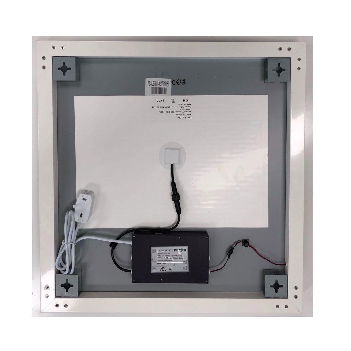 Attica square illuminated mirror with demister 60cm x 60cm for Mirror 60cm wide