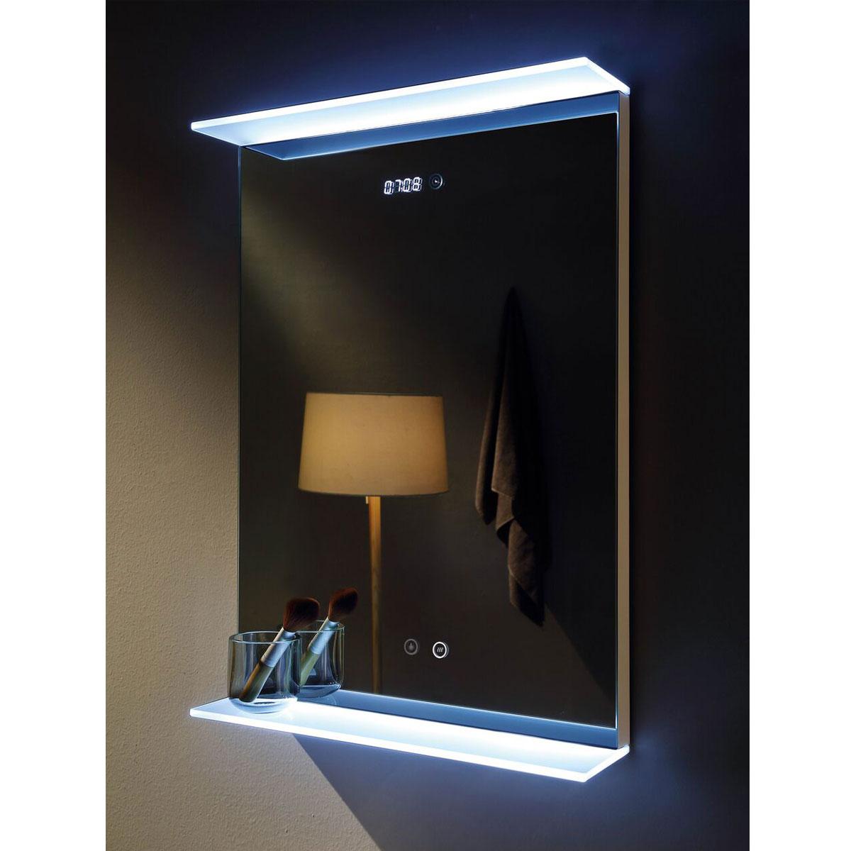 Nova Deluxe Led Illuminated Bathroom Mirror With Digital