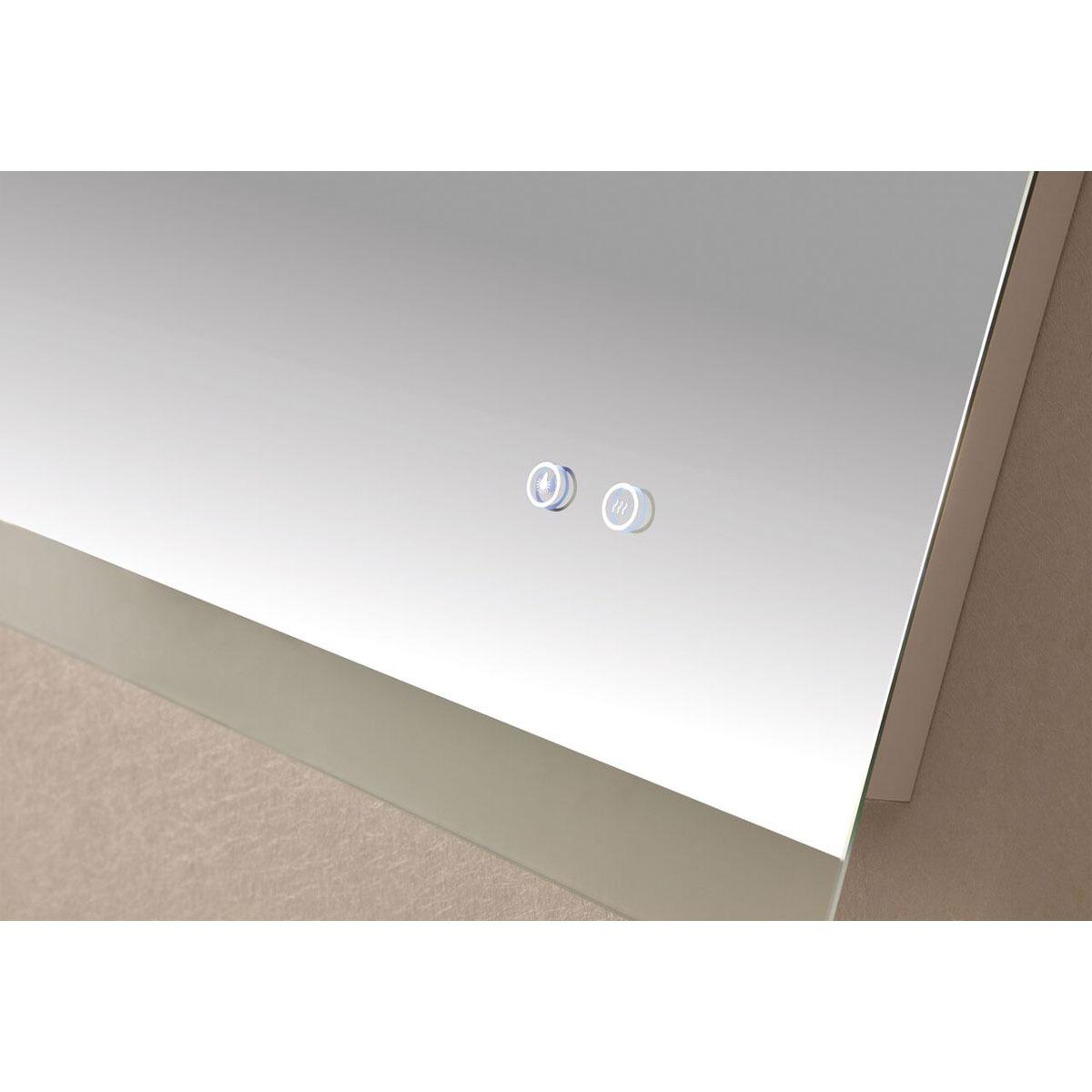 Otto 1200 Backlit Bathroom Mirror range - Demister, Magnifier, Clock