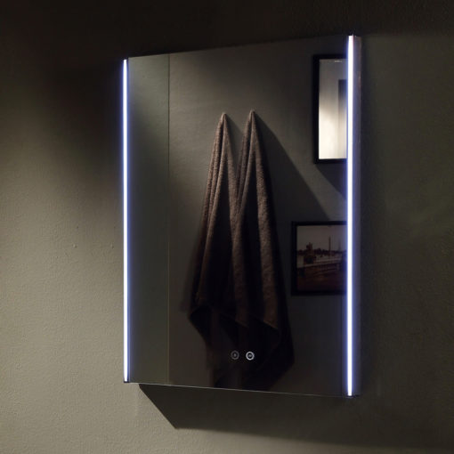 Remer shine 600 led backlit mirror 60cm x 80cm luxe mirrors for Mirror 60cm x 80cm
