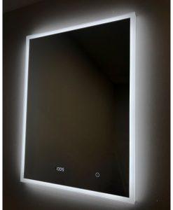 Venus Deluxe 600 LED Backlit Mirror with Digital Clock - Demister 60 x 80 cm