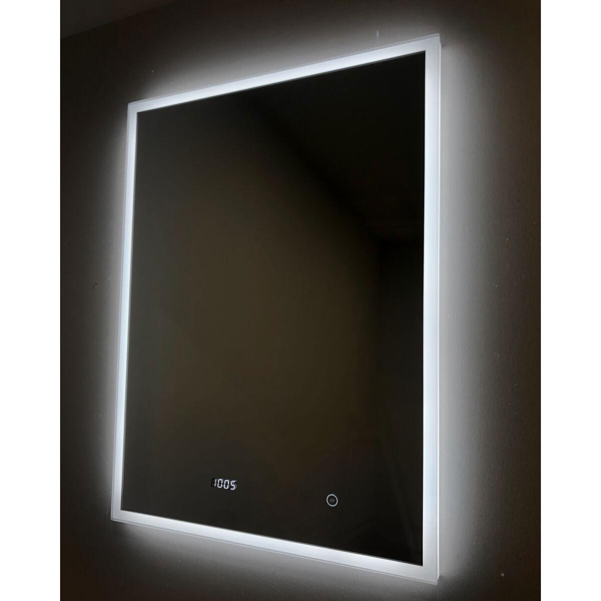 Venus deluxe led backlit mirror digital clock 60cm x 80 cm for Mirror 60cm wide