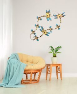 Cluster Dragonfly Metal Wall Hanging