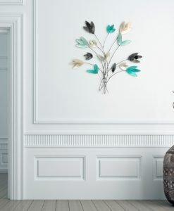 Langley Metallic Flower Wall Art