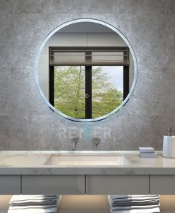 Illuminated Round Bathroom Mirror