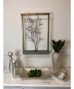 Metal Framed Winter Tree Wall Art 8cm