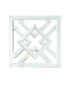 Unity White Square Wall Mirror Wall Art 43 cm