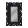 Luxury French Lace Black Floor Mirror 206 cm