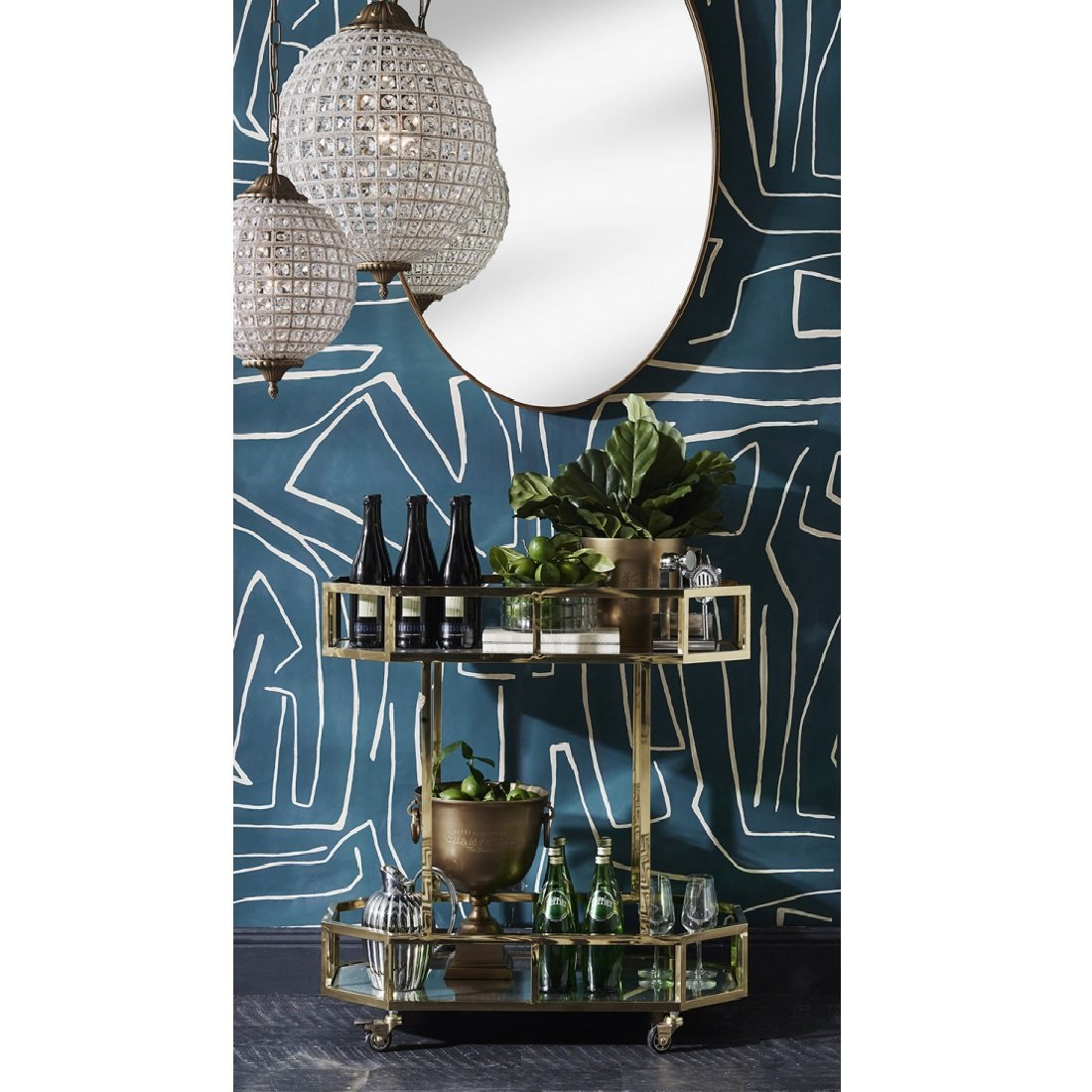 Davey Gold Oval Wall Mirror Small 90 X 61cm Or Large 115