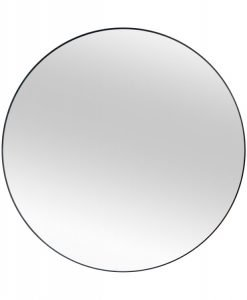 Romance Modern Black Frame Round Mirror