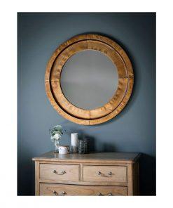 Milly Round Bronze Mirror 87cm