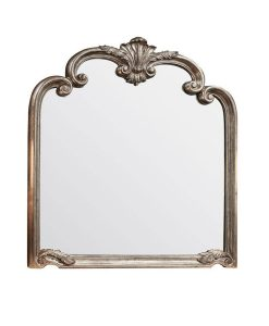 Piazza Arched Champagne Wall Mirror 104cm x 115cm