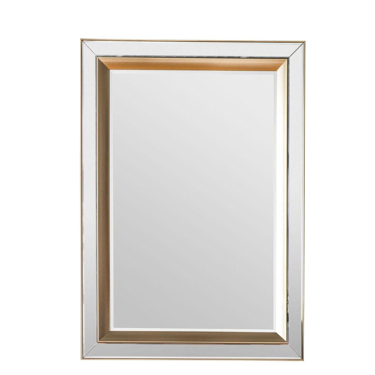 db8bd35c0b45 Opera Gold Inlay Wall Mirror 79 x 109cm