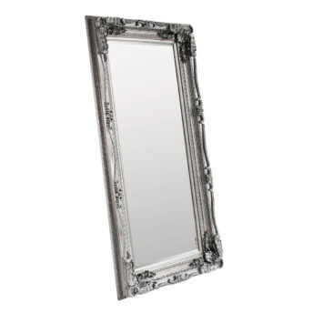 Carved Louis Leaner Mirror Silver W895 x H1755mm
