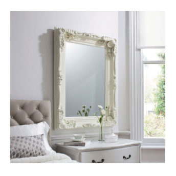 Carved Louis Mirror Cream W895 x H1200mm