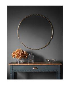 Round Mirror Champagne 80cm
