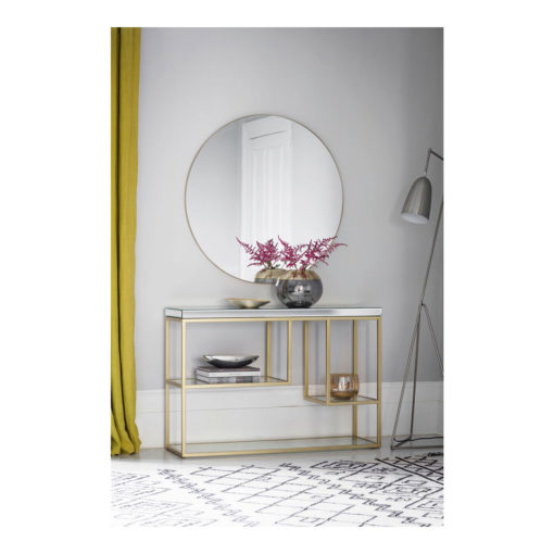 Hayle Round Mirror Champagne W1000 x D20 x H1000mm