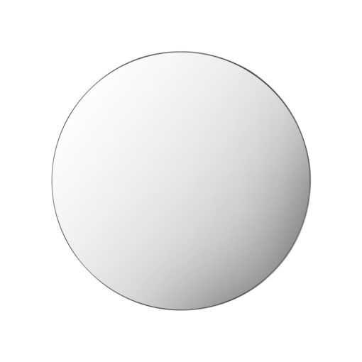 Infinity edge black round mirror 100cm