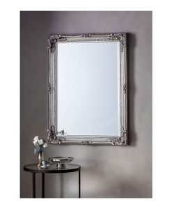 Rohan Ornate Silver Wall Mirror 78cm x 108cm