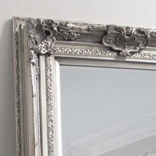 Decorative Leaner Mirror Silver