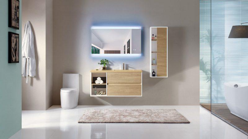 Backlit LED Modern Bathroom Mirror