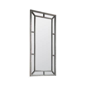Layla Contemporary Beaded Leaner Mirror
