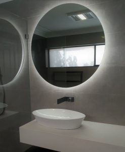 Rear Soft Glow Backlit LED Bathroom Mirror Round 60cm or 90cm