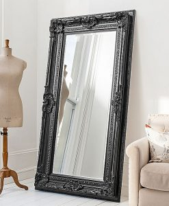 Vale Decorative Leaner Mirror Black