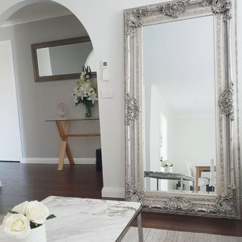 Vale Decorative Silver Leaner Mirror