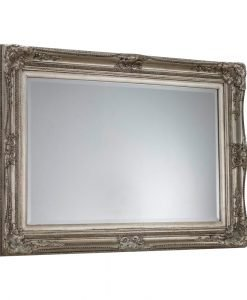 Joanna Traditional Mirror with Silver Wooden FramE
