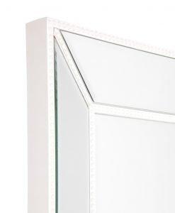 Zanthia White Beaded Wall Mirror 90cm x 120cm