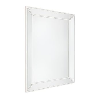 Zanthia White Beaded Wall Mirror 90cm x 120cm