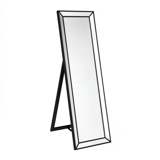 Zanthia Cheval Mirror with Stand - Black_40401_Side