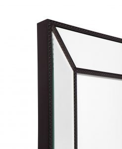 Zanthia Cheval Mirror with Stand - Black_40401_SideFrame