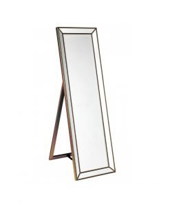 Zanthia Cheval Mirror with Stand - Gold_40402_Side
