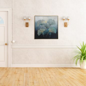Framed Flower Petals Canvas Wall Art