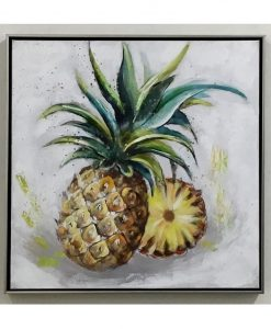 Framed Pineapple Canvas Wall Art