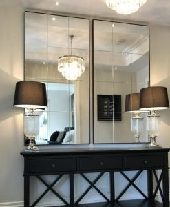 contemporary panel Mirror