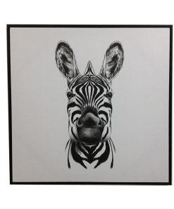 Framed Zebra Canvas Wall Art 80cm_E533112
