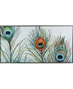 Framed Feathers Canvas Wall Art