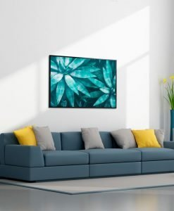 Framed Agave Canvas Wall Art 100cm x 140cm