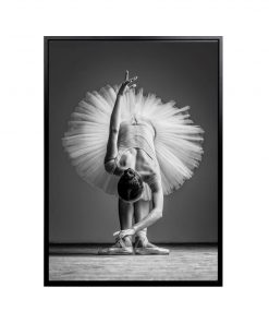 Framed Ballerina Canvas Wall Art 100cm x 140cm_E533110