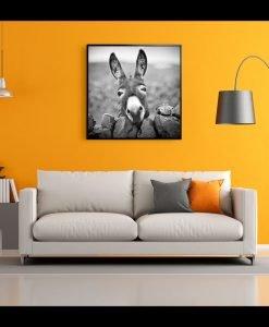 Framed Donkey Canvas Wall Art 100cm