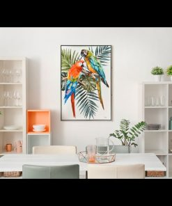 Framed Parrot Canvas Wall Art