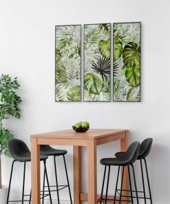 Framed Tropical Garden Canvas Wall Art (Set of 3) 120cm