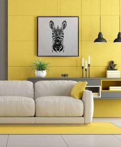 Framed Zebra Canvas Wall Art 80cm