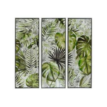 Framed-Tropical-Garden-Canvas-Wall-Art-(Set-of-3)-120cm