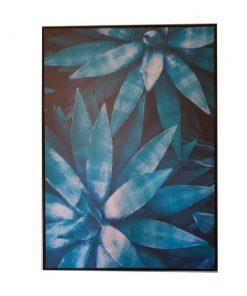 Framed Blue Agave Canvas Wall Art